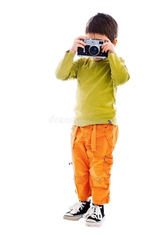 Boy taking photos
