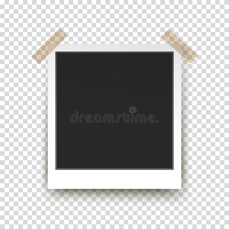 Retro Photo Frame On Transparent Background Stock Vector ...