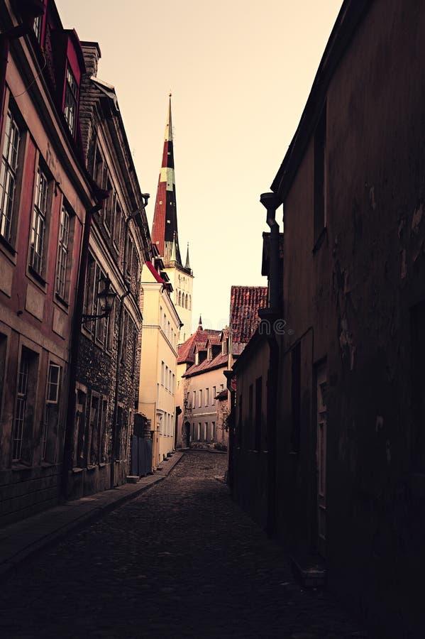 Old european town street royalty free stock photo