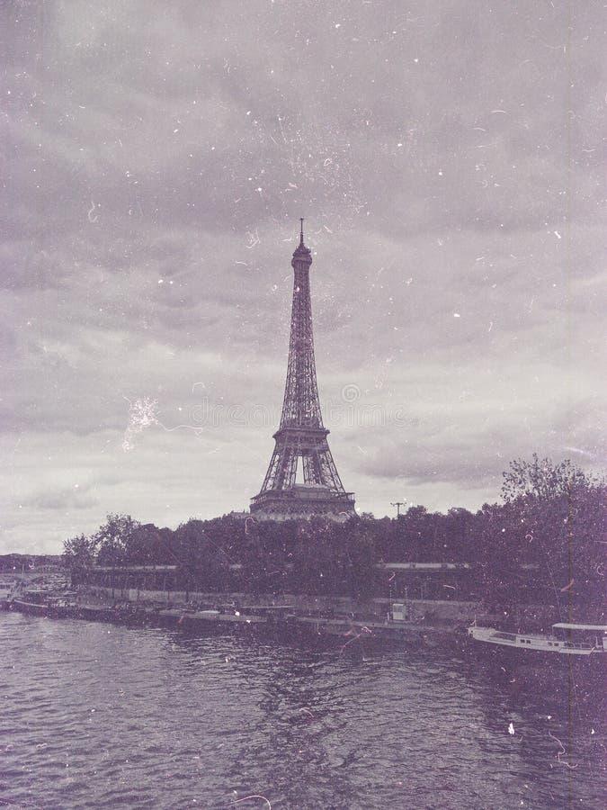 Retro photo with paris, france, vintage royalty free stock photo