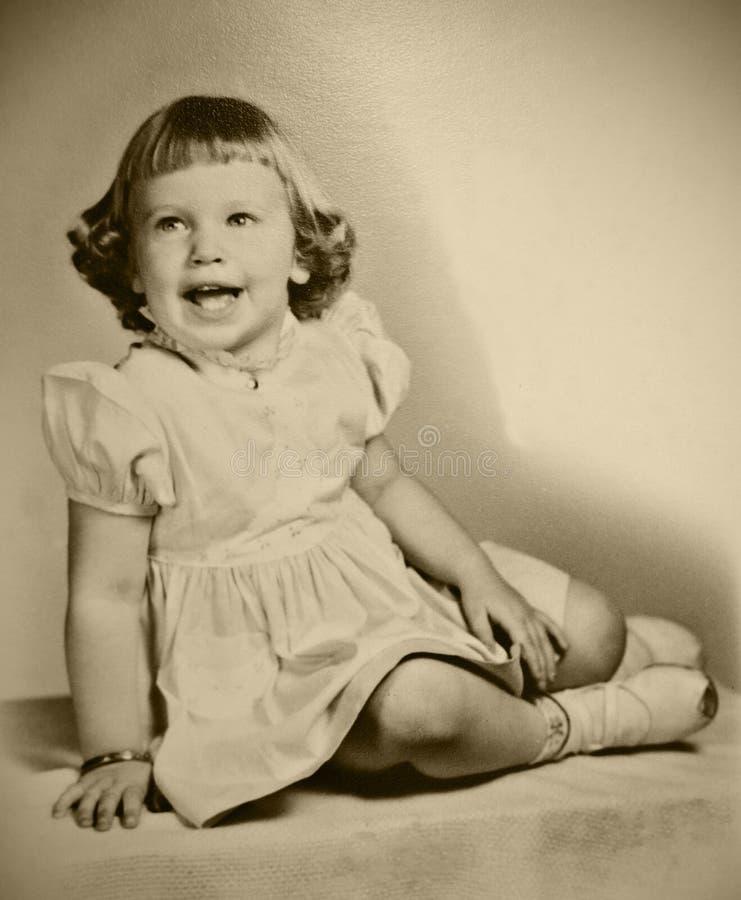 Retro Photo Young Girl stock image