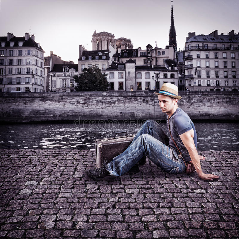 Download Retro Photo Of Young Handsome Man Traveler Stock Image - Image: 32504545