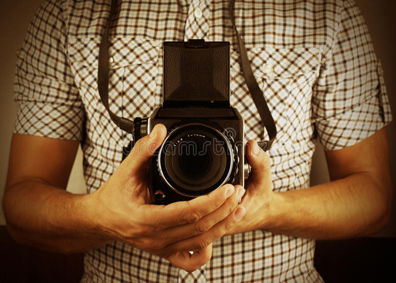 Download Retro photographer stock photo. Image of fingers, photography - 21507120