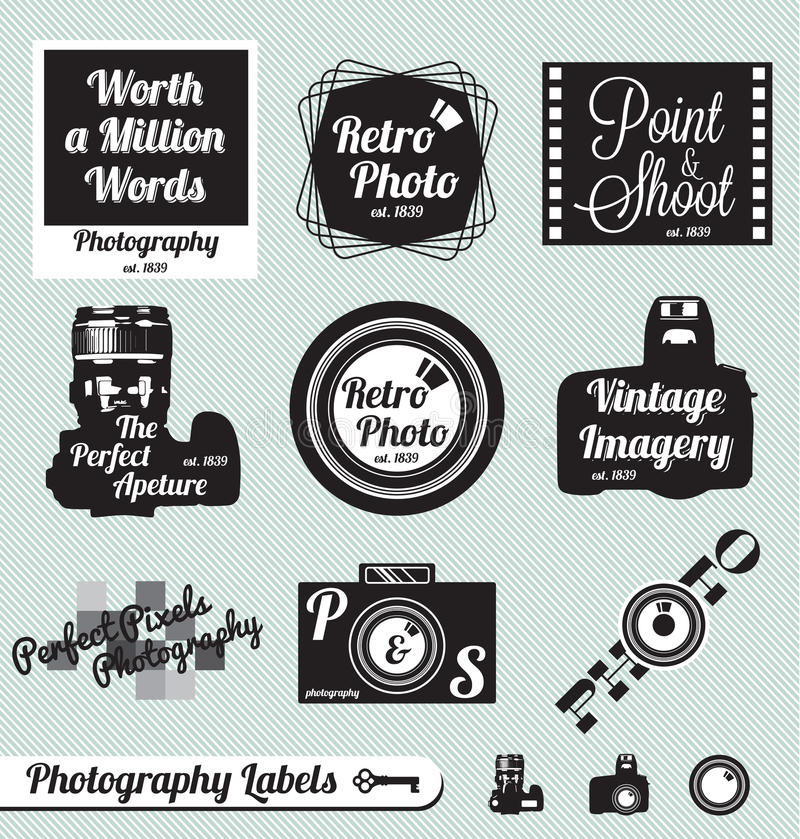 Download Retro Photography Labels And Stickers Stock Vector - Image: 27084365