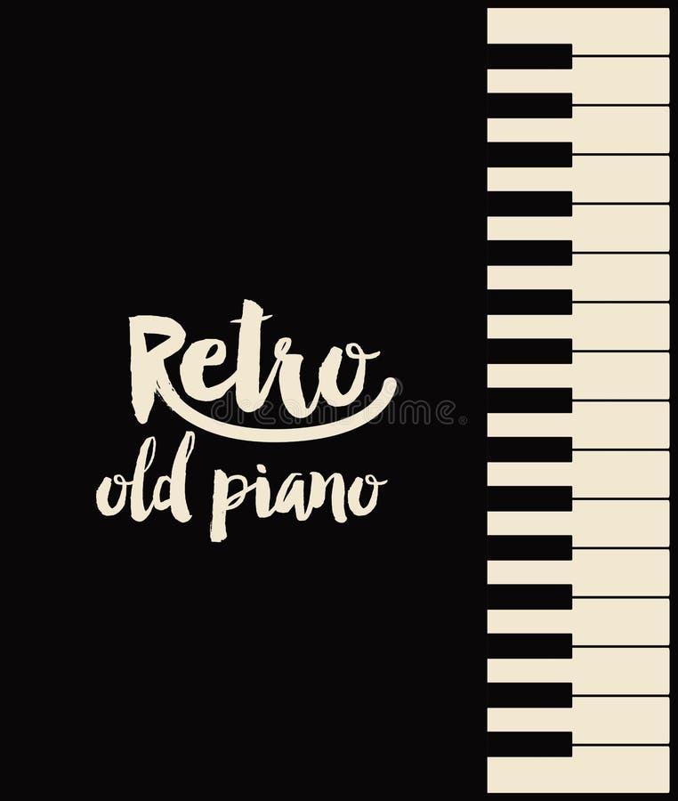 Download Retro Piano Poster Isolated Icon Design Stock Vector