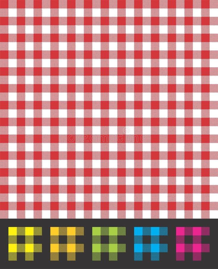 Retro- Picknick-Tischdecken-Muster-Vektor stockfotos