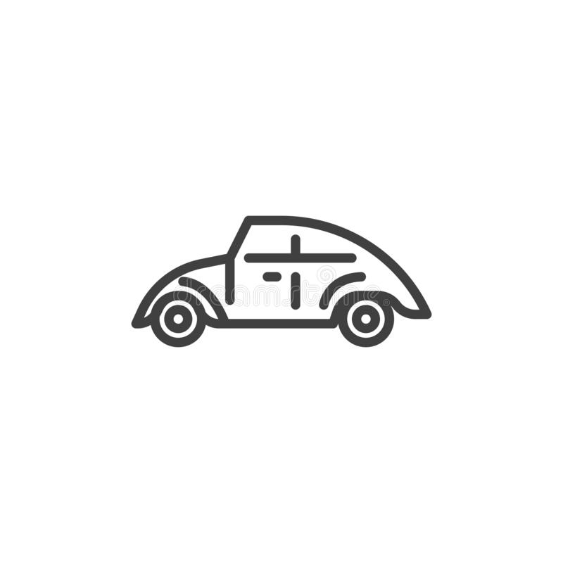 Retro pictogram van de autolijn royalty-vrije illustratie