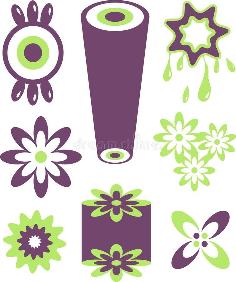 Retro pictogrammen royalty-vrije illustratie