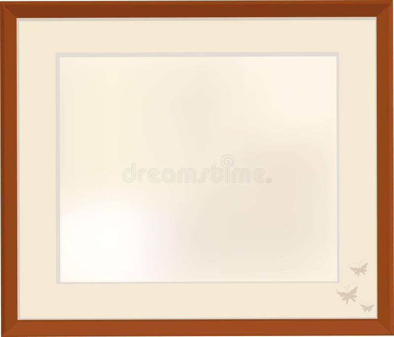 Retro picture frames stock illustration