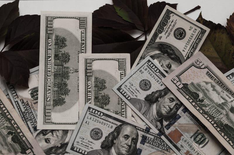 Retro pieniądze Pieniądze Ameryka dolarów tło obraz stock