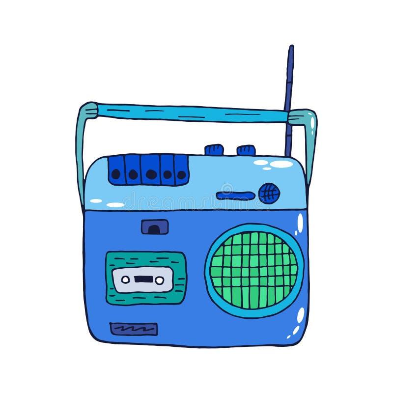 Retro pisak ikona dla audio kaset odizolowywać na białym tle ilustracja wektor