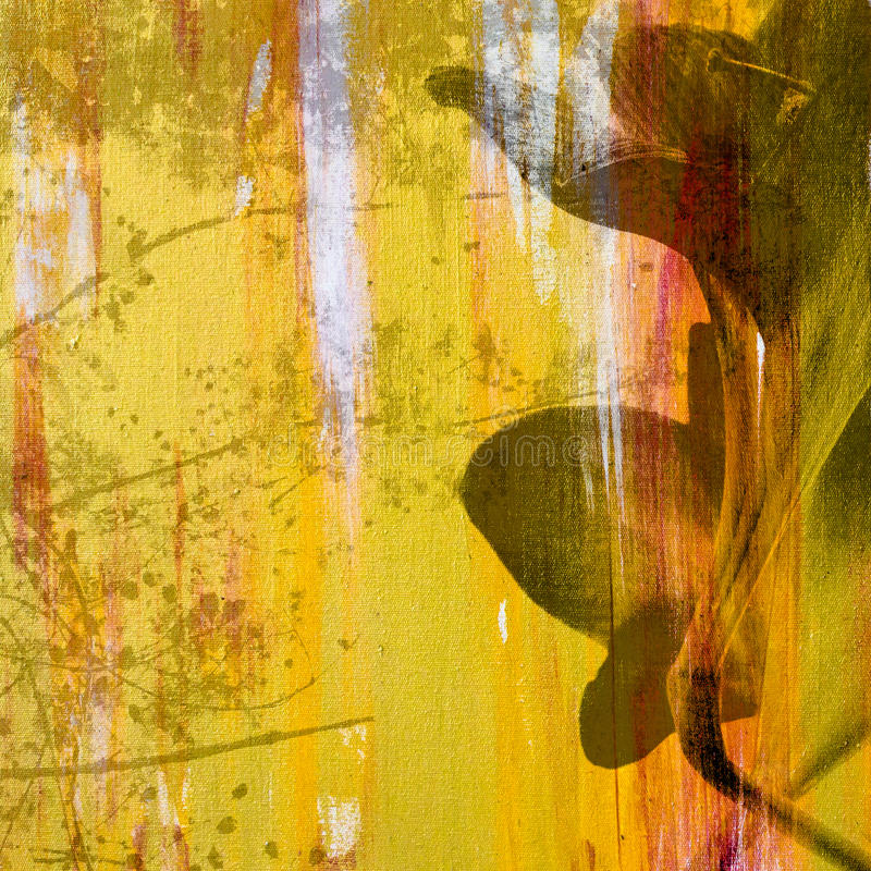 Retro pittura del fiore fotografia stock libera da diritti
