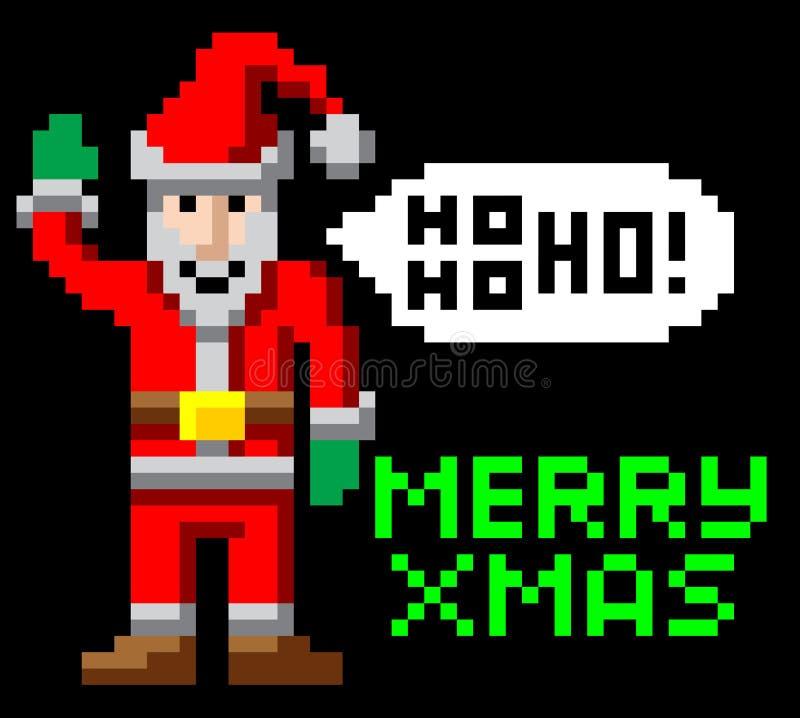 Download Retro Pixel Art Christmas Santa Stock Vector - Illustration of icon, clip: 33358482