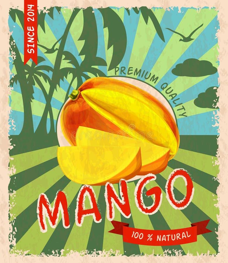 Retro- Plakat der Mango lizenzfreie abbildung