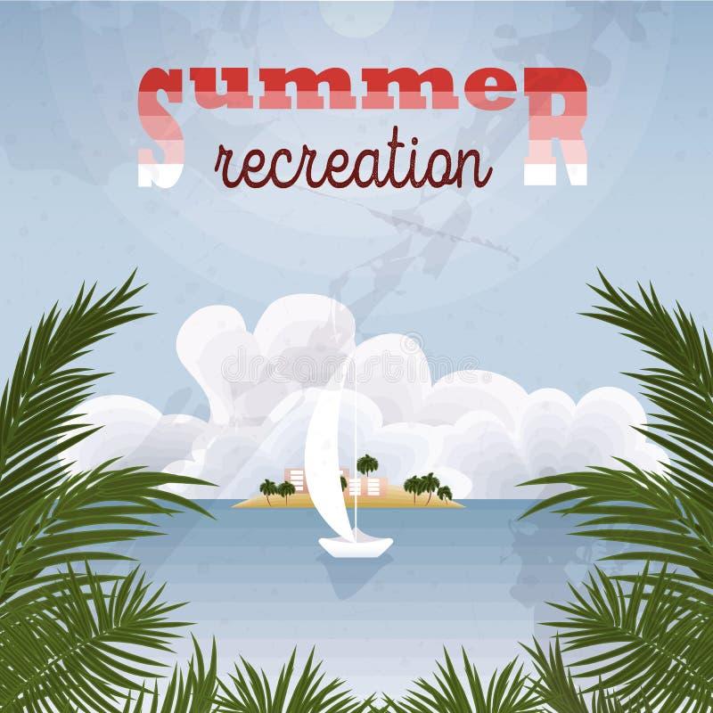 Retro- Plakat der Sommererholung Dieses ist Datei des Formats EPS10 lizenzfreie abbildung