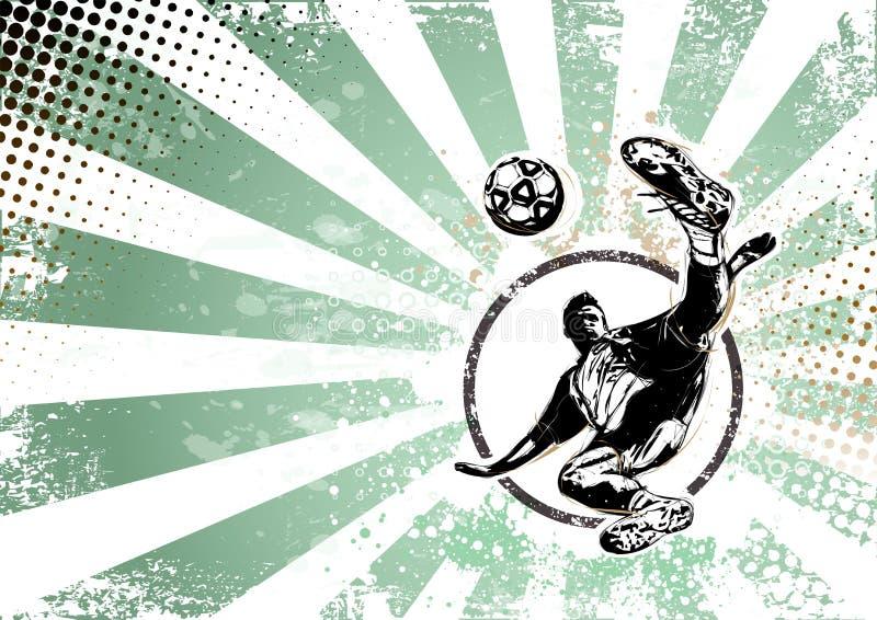 Retro Plakathintergrund des Fußballs stock abbildung