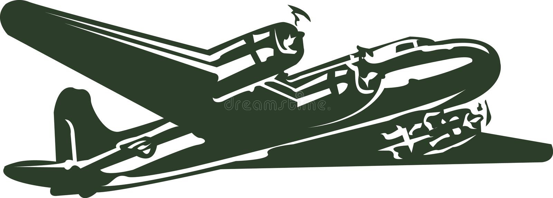 Download Retro Plane stock vector. Image of vector, cool, seventies - 3970421