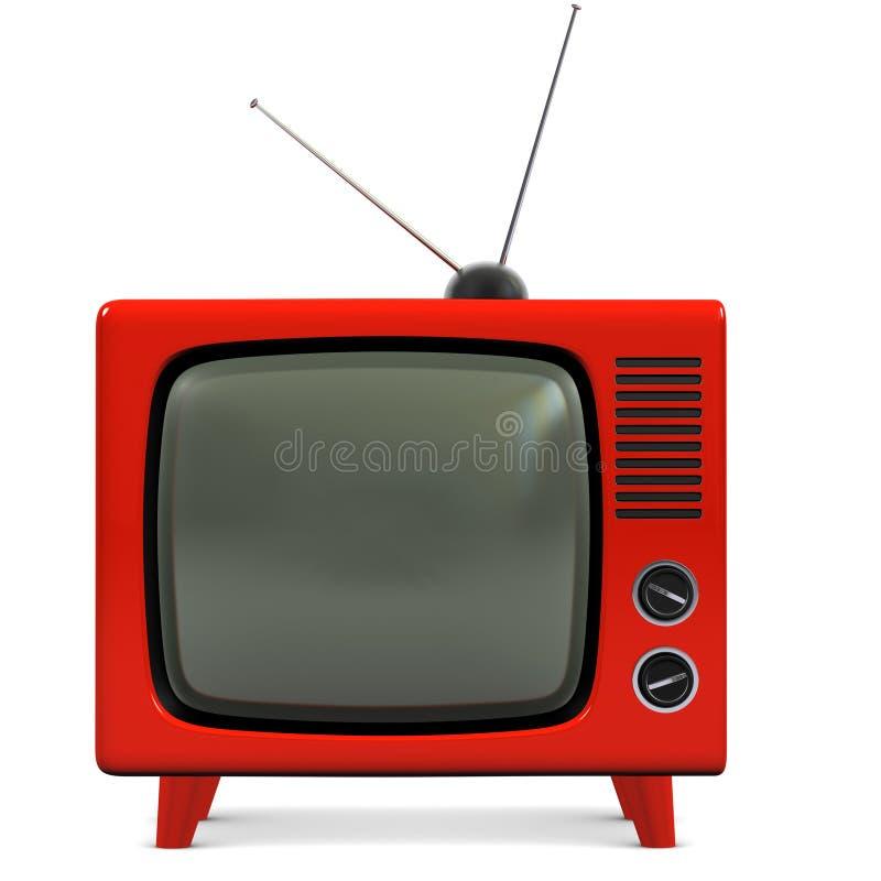 Retro plastic TV. A stock photo of a Retro plastic television royalty free illustration
