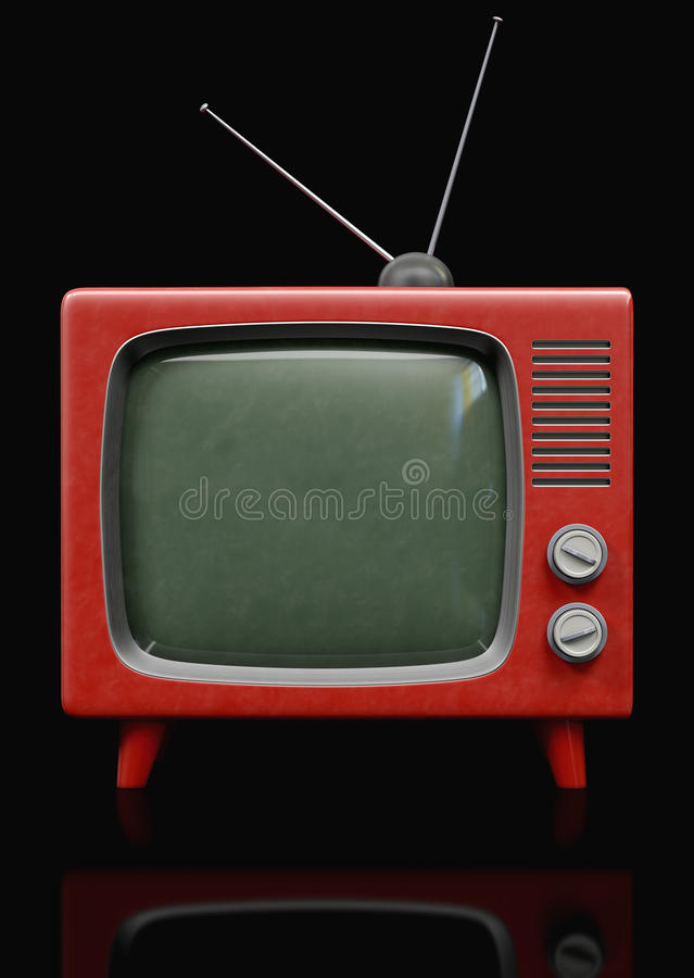 Download Retro plastic TV stock image. Image of funky, fashioned - 26139453