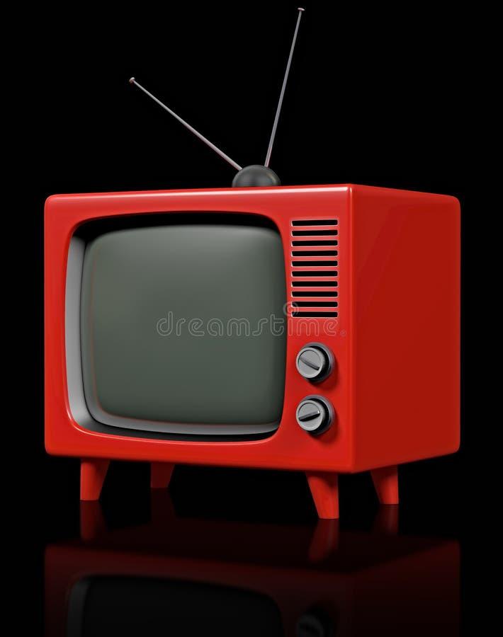 Retro- Plastik-Fernsehapparat stockbild