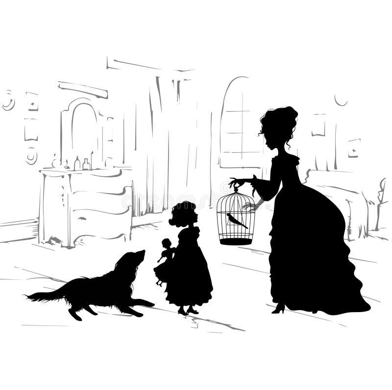 Retro plats av livsstilen royaltyfri illustrationer