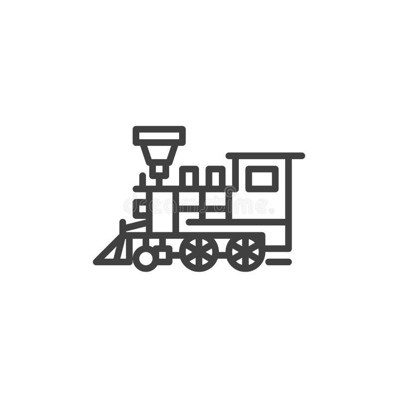 Retro pociąg linii ikona royalty ilustracja