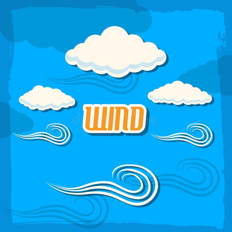 Retro pogodowy tła pojęcie Wektorowy ilustracyjny projekt