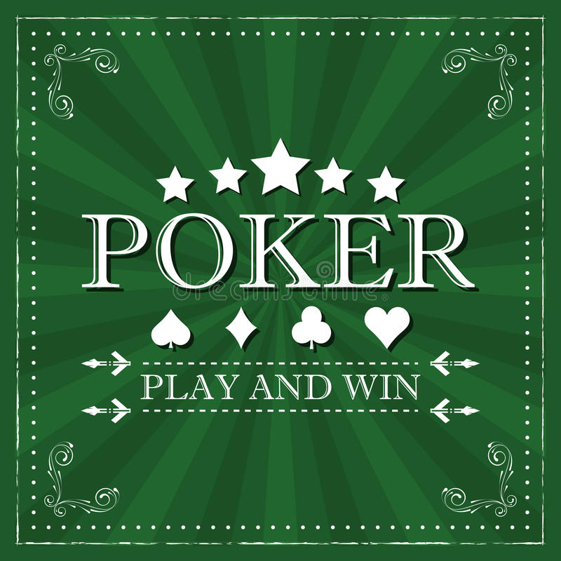 Retro poker background with card symbol and ornate frame. Retro poker background with card symbol, halftone pattern and ornate frame royalty free illustration
