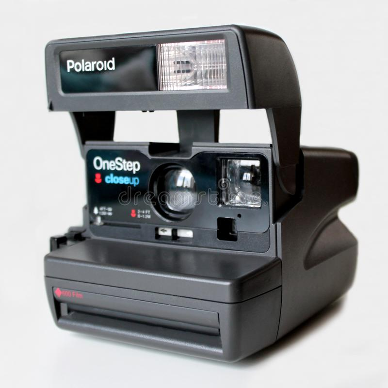Retro polaroid camera isolated on white background royalty free stock photography
