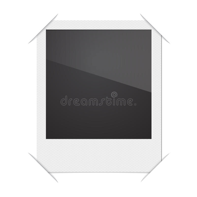 Retro Polaroidcamera van het Fotokader op Witte Achtergrond royalty-vrije illustratie