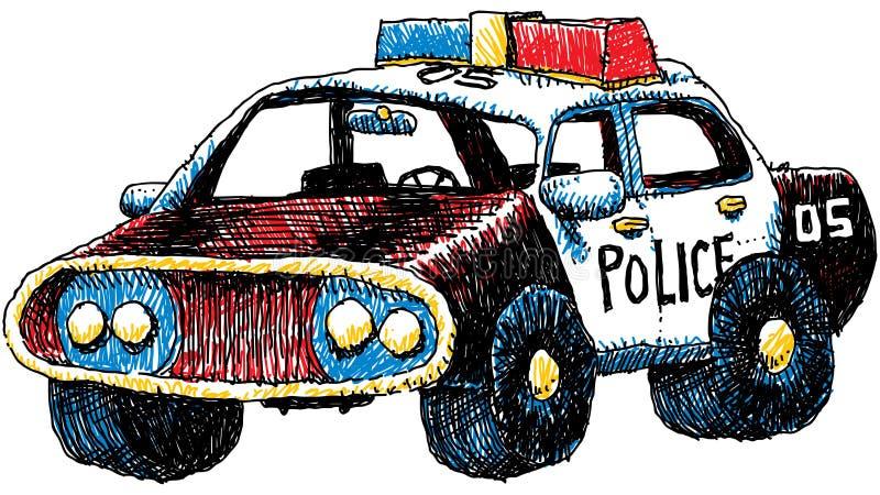 Retro Police Car royalty free illustration