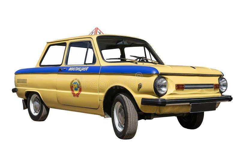 Retro police car stock images