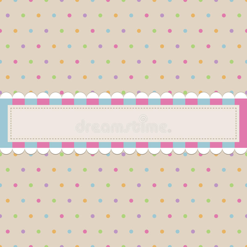 Download Retro Polka Dot With Banner Stock Vector - Illustration of wrapping, pattern: 11461717