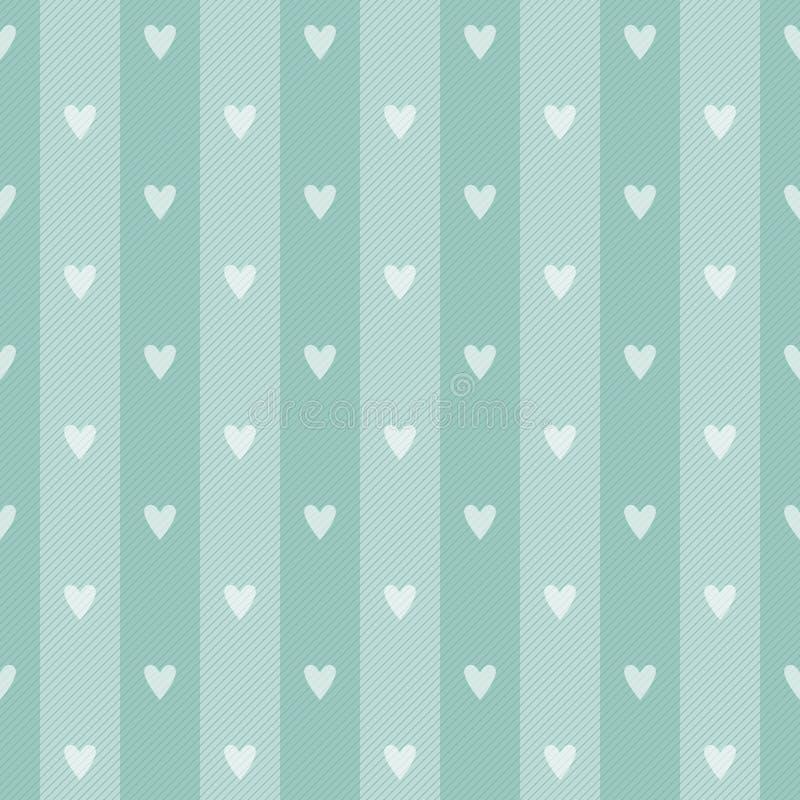 Retro polka hearth seamless background stock illustration