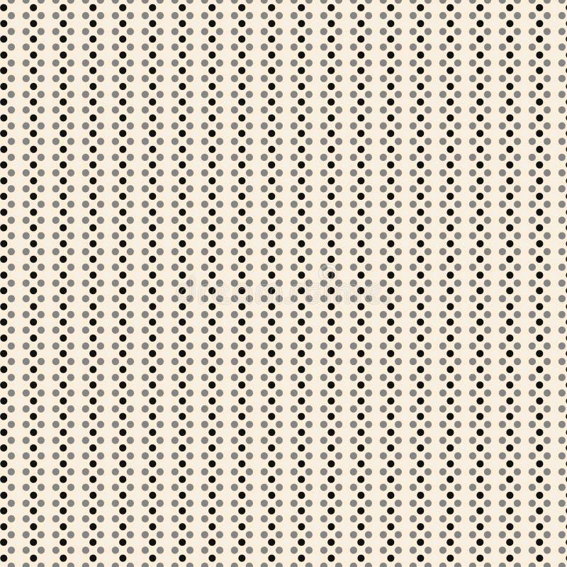 Retro- Polka-Punkt-Auslegung lizenzfreie abbildung