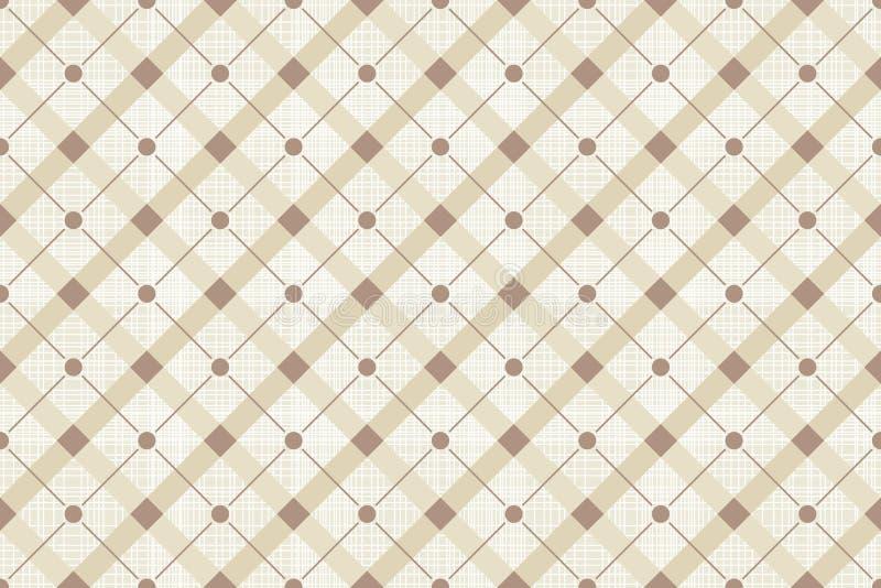 Retro Polka senza cuciture Dot Pattern di vettore illustrazione di stock