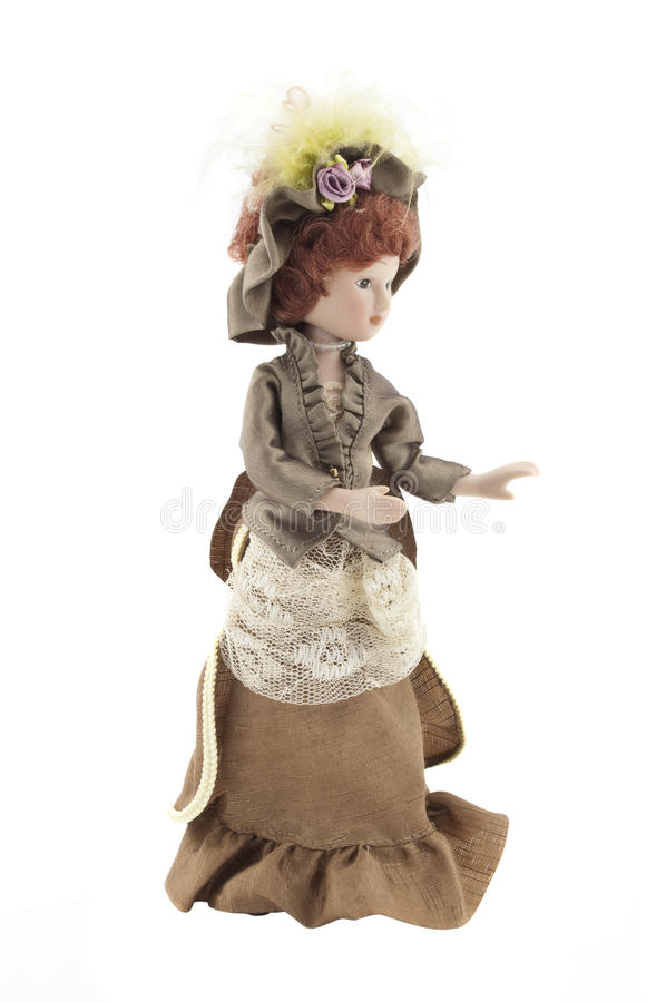 Download Retro porcelain doll stock image. Image of female, dolly - 25361025