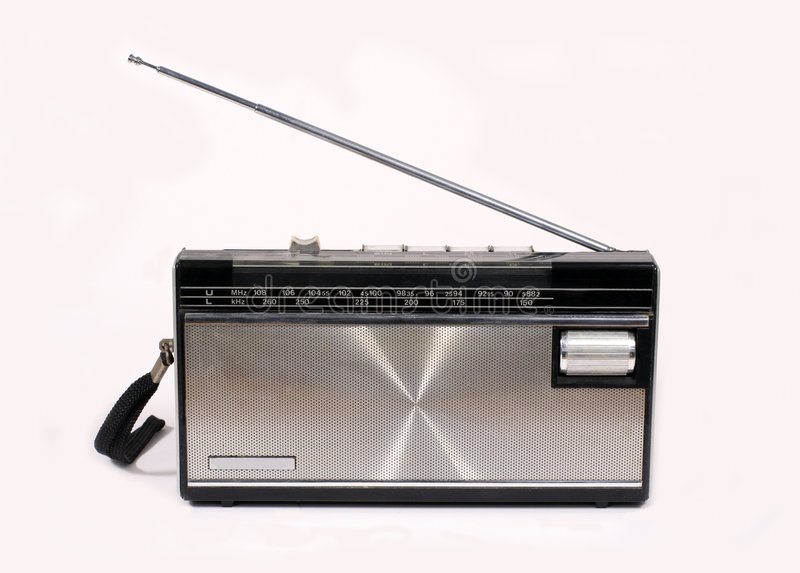 Retro Portable Radio stock photography