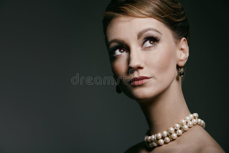 Retro portrait royalty free stock photography