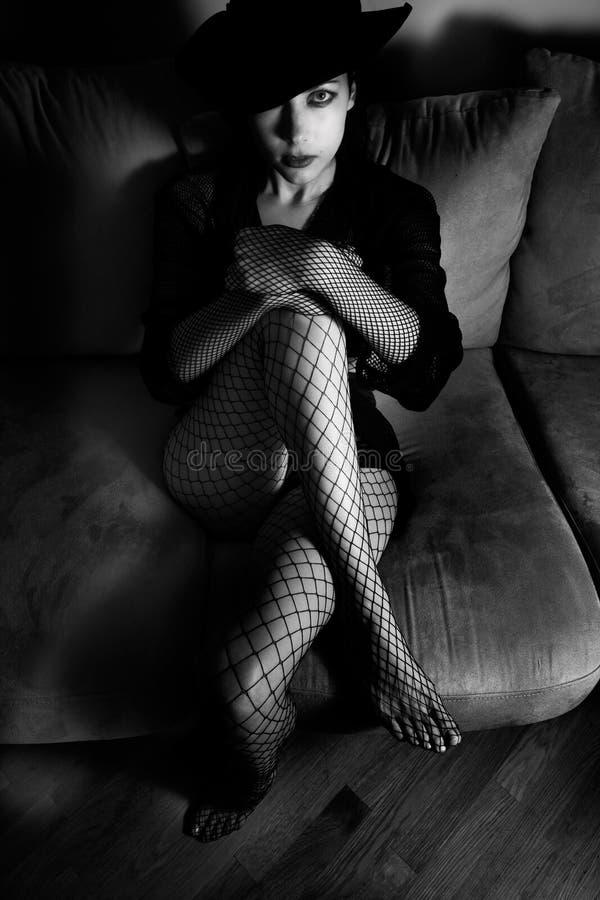 Retro portret stock fotografie