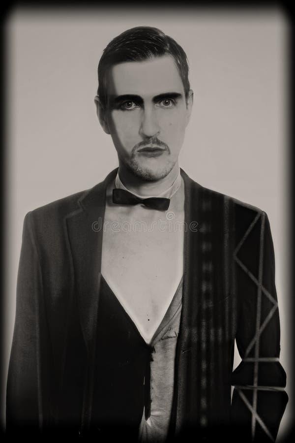 Retro portret van jongelui royalty-vrije stock afbeeldingen