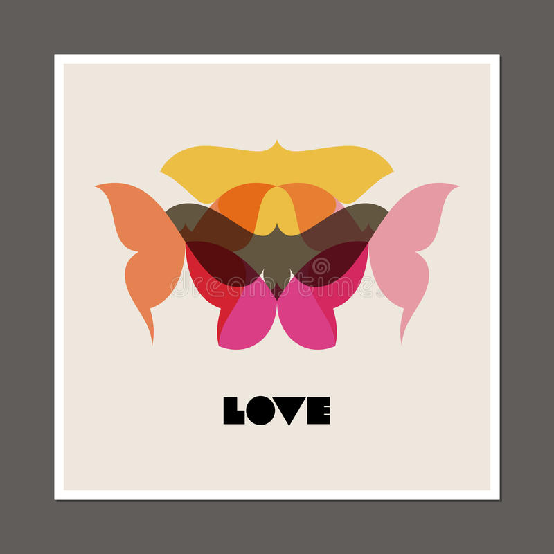 Retro poster with butterflies and moths royalty free illustration