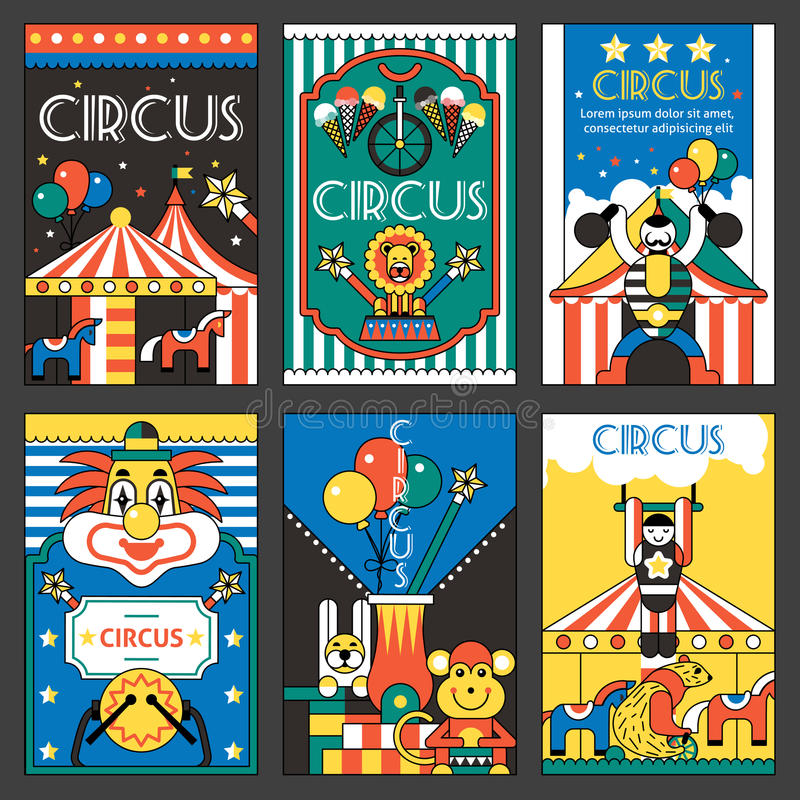 Retro- Poster des Zirkusses stock abbildung