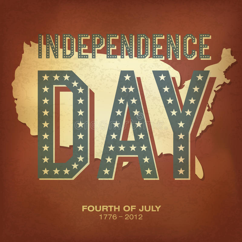 Retro poster for Independence Day Celebration