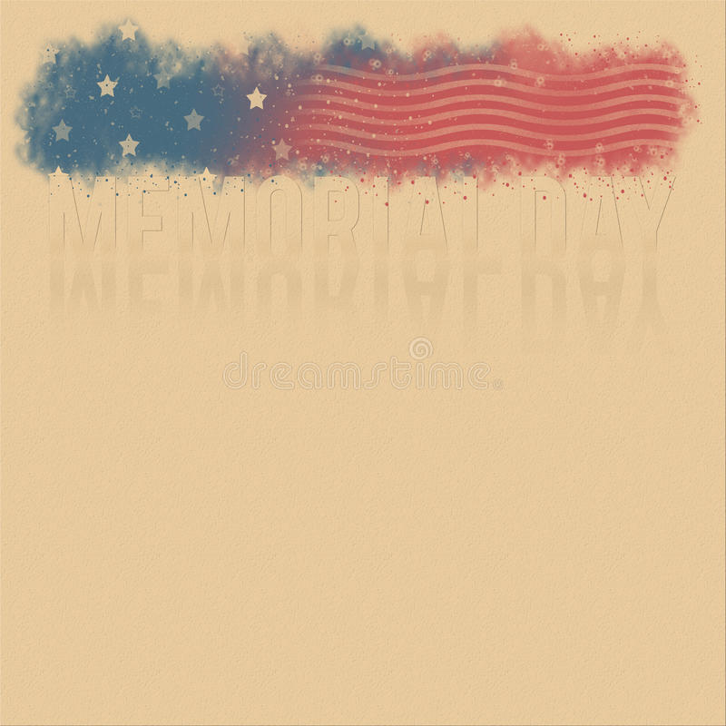 Retro poster for Memorial Day. With stars and stripes royalty free stock images