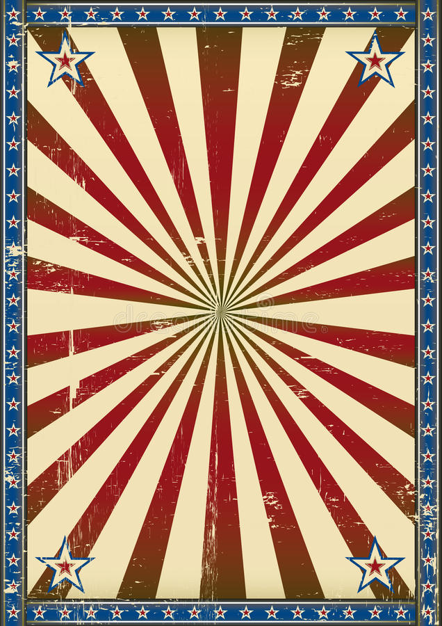 Retro poster patriotic background royalty free stock images