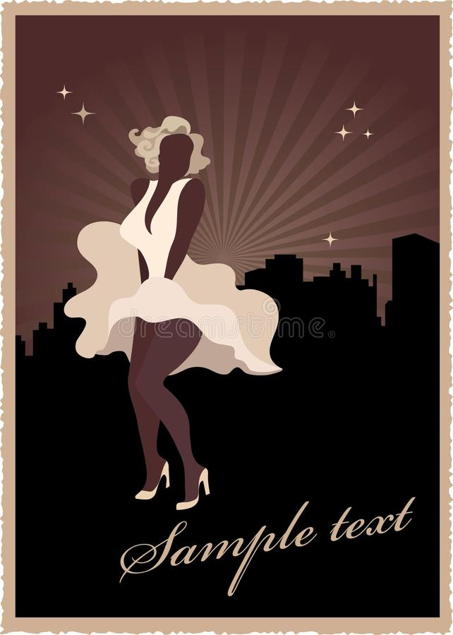 Free Retro Poster With Marilyn Monroe Royalty Free Stock Images - 9715699
