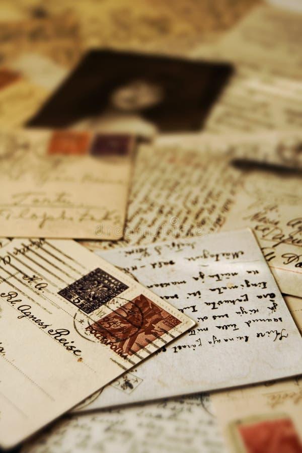 Retro- Postkarten stockfotos