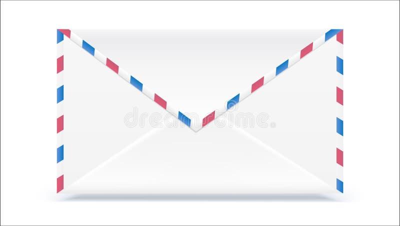 Retro- Postumschlag Formen Sie mit dem Beschaffenheitseffekt, der auf weißen Hintergrund lokalisiert wird Illustration des Vektor lizenzfreie abbildung