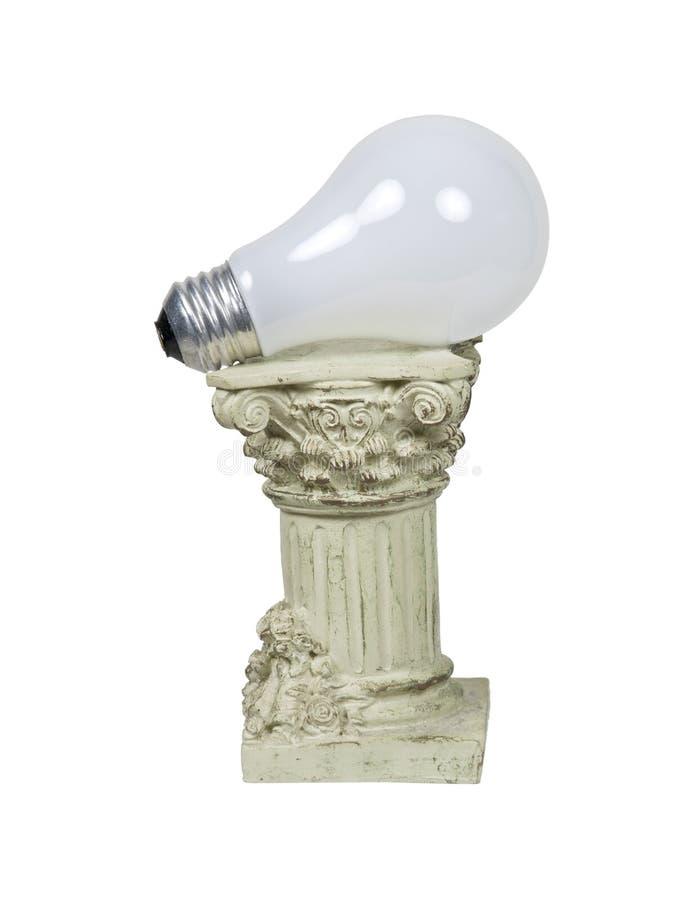 Retro Power on Formal Pedestal stock image